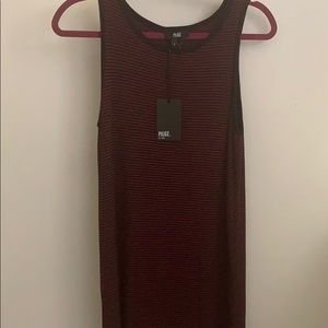 Brand new Paige black and maroon dress